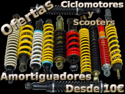 Ofertas en todos los amortiguadores de Ciclomotores y Scooters.